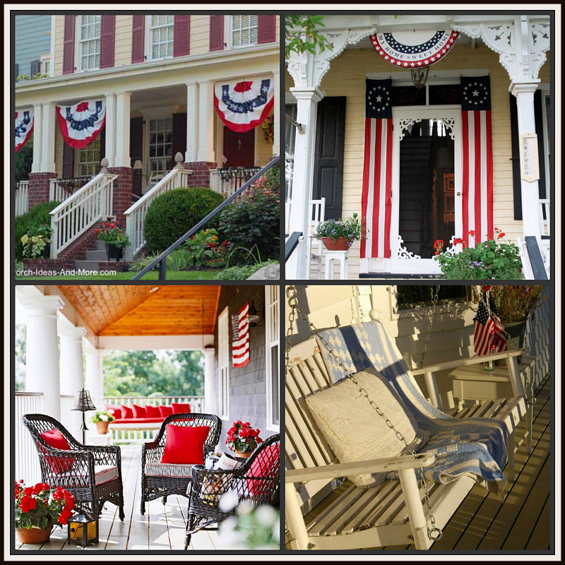 4th of july window decor red white and blue porch decor inspiration networx